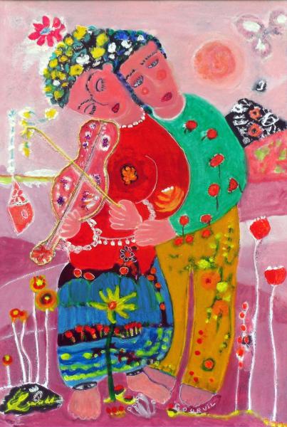 Le violon rose