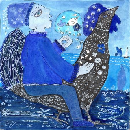 Dessin 13 – Nuit bleue