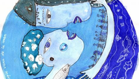 Dessin – Le peuple venu de la mer (diam. 20 cm)