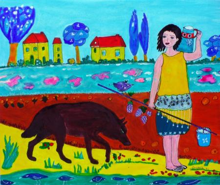 La jeune femme et le loup